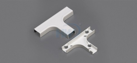 Raceway Fittings - Tee + Base, For GU-4525,45x25mm,One Piece Raceway