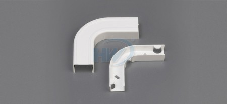 Raceway Fittings - Flat Elbow+Base, For GU-4525,45x25mm,One Piece Raceway