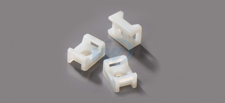 Cable Tie Mounts,Saddle Type,Polyamide,4.8mm Max. tie width,3.7mm Mounting Hole - Saddle Cable Tie Mounts