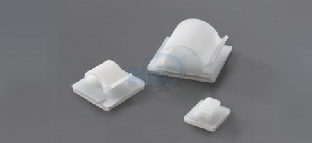 Self Adhesive,Cable Clamps,Polyamide,4mm Max. Bundle Dia.