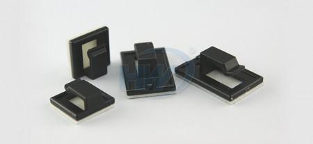 """自黏式電線固定座,自黏式,PA66,最大捆束範圍0.14""""(3.5mm) - 自黏式電線固定座"""