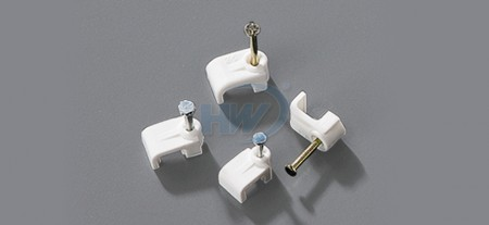 Cable Clips, Flat Type,Single Nail, 3.1mm, nail ø2.0x15 mm - Single Nail Flat Cable Clips