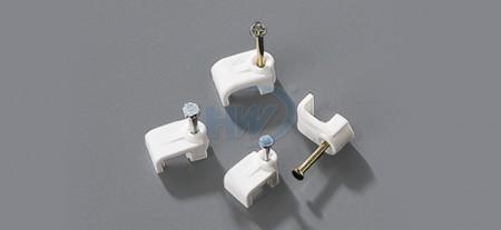 Cable Clips, Flat Type,Single Nail, 3.1mm, nail ø2.0x15 mm - Single Nail Flat Cable Clips