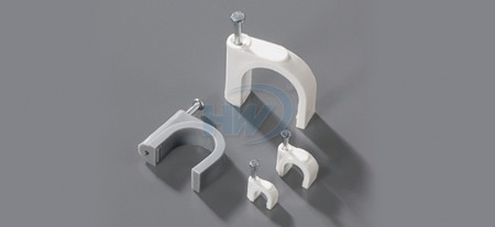 Cable Clips, Round Type,Single Nail, 3.5mm, nail ø2.0x15 mm - Single Nail Round Cable Clips