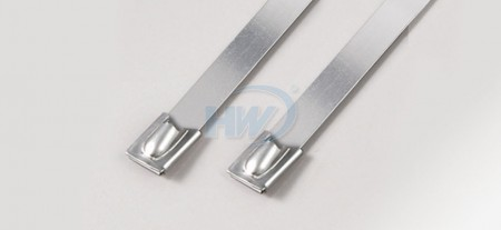 Stainless Steel Ties,Ball Lock Type,SS304 / SS316,368mm, 250lbf - Ball Lock Type Stainless Steel Ties