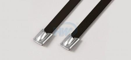 """標準型環氧塗層珠式不鏽鋼帶,#304/#316,長度(L)5.08""""(129mm),環拉值160lbf - 環氧塗層珠式不鏽鋼帶"""