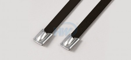 Stainless Steel Ties,Ball Lock Type,PA11 Coated,SS304 / SS316,1050mm,250lbf