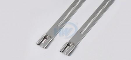 """标准型阶梯型不锈钢束带, SS304 / SS316 ,长度(L)5.91""""(150mm),环拉值250lbf - 阶梯型不锈钢束带"""