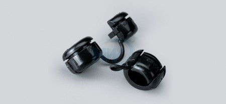 Strain Relief Bushings,Flat Type,Polyamide Accommodated SPT-1 18/2 Wire (2.8x5.6 mm), Panel Thickness 3.4mm - Strain Relief Bushings