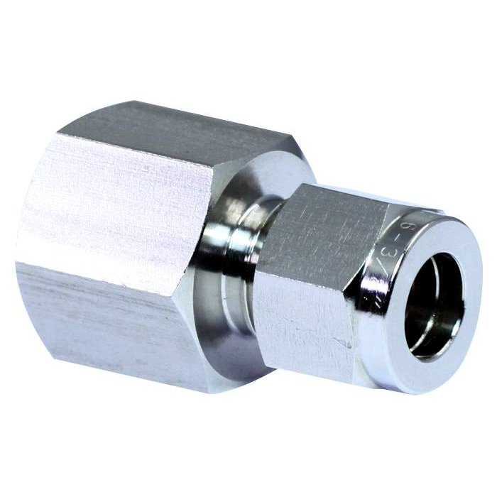 316 stainless steel double ferrules tube fittings female connector.