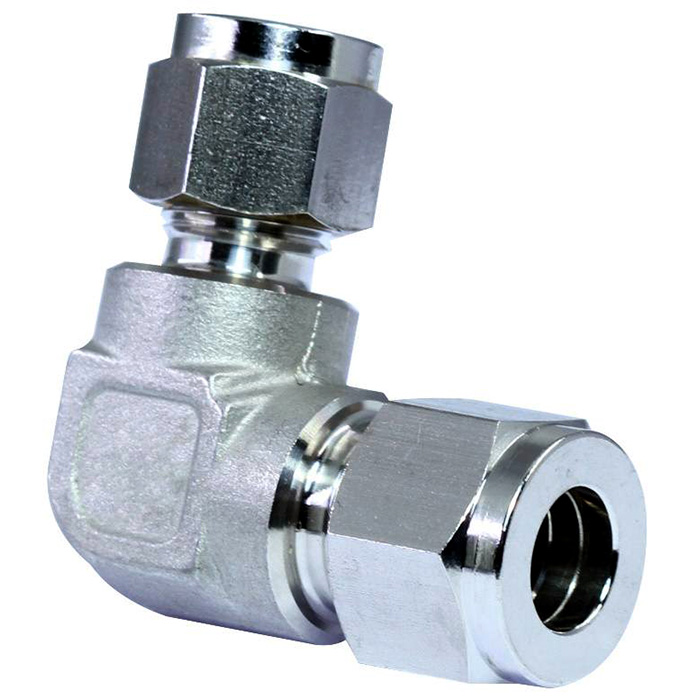 316 stainless steel double ferrules tube fittings reducing union elbow.