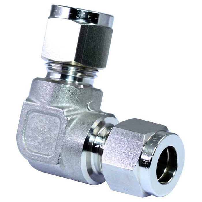 316 stainless steel double ferrules tube fittings union elbow.