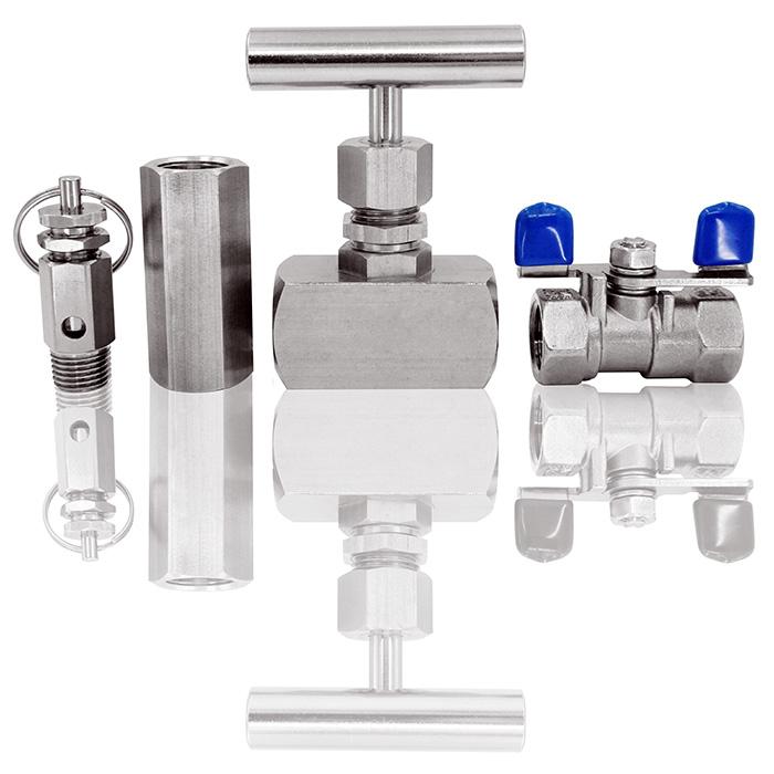 Das Ventil wird verwendet, um den Durchfluss einzustellen und den Durchfluss ein- / auszuschalten.