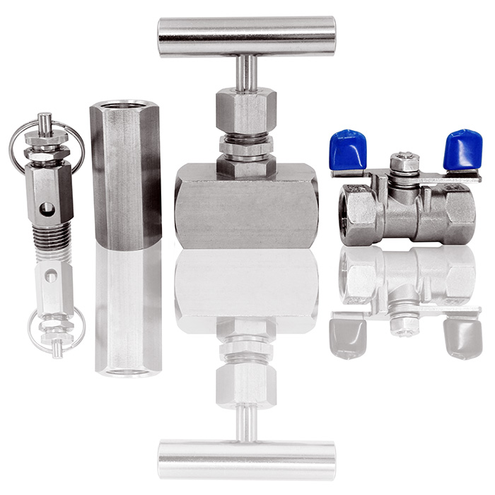 Valve is used to adjust flow and switch on / off the flow.