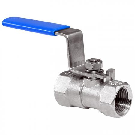 1-PC Female Ball Valve - Stainless-steel female ball valve is one-piece shutoff valve.