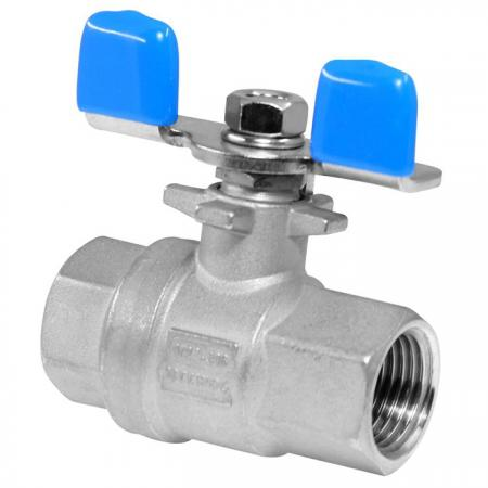 2-PC Female Ball Valve (Butterfly Handle) - Stainless 2-PC Female Ball Valve (Butterfly Handle).