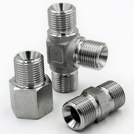 BS5200 60° Hydraulikarmaturen - Hydraulische Fittings entsprechen den internationalen Standards JIC und BS 5200.