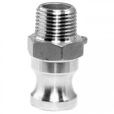 大流量F型公外牙快速接头 - 油罐车洒水车卸油管胶管软管快速接头。