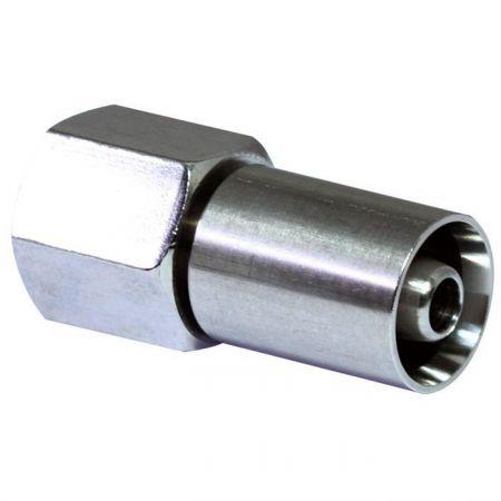 Crimp-Schlauchfittings PTFE-Schlauch zu JIC 37° Swivel - Crimp-Schlauchfittings verbinden den PTFE-Schlauch an einem Ende mit dem um 37° drehbaren Fitting am anderen Ende.