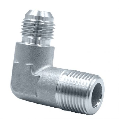 JIC 37° Flare Hydraulic Fittings Male Elbow (Investment Casting) - JIC 37° Flare Male Elbow can also be formed via lost wax precision casting.