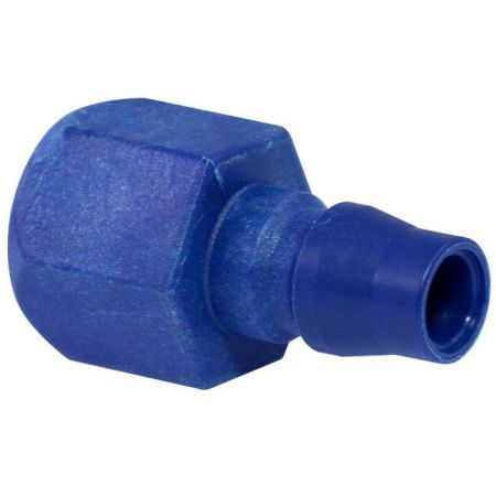 One Touch Quick Coupling Female Plug (Nylon66 + GF) - Also known as one-hand operation quick coupling, one-hand operation quick coupler, one-hand quick release coupling.