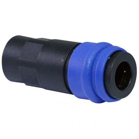 One-Touch-Schnellkupplungen Buchse (Nylon66 + GF) - Auch bekannt als Einhand-Schnellkupplung, Einhand-Schnellkupplung, Einhand-Schnellkupplung.