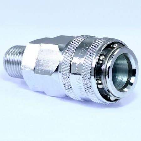 One-Touch-Schnellkupplungen Stecker (Stahl) - Auch bekannt als Einhand-Schnellkupplung, Einhand-Schnellkupplung, Einhand-Schnellkupplung.