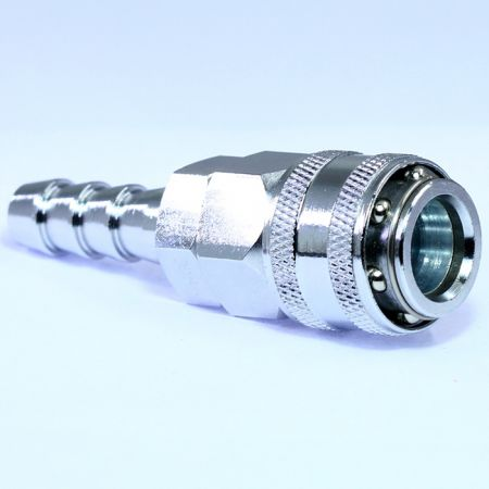 One Touch Quick Couplings Hose Socket (Steel) - Also known as one-hand operation quick coupling, one-hand operation quick coupler, one-hand quick release coupling.
