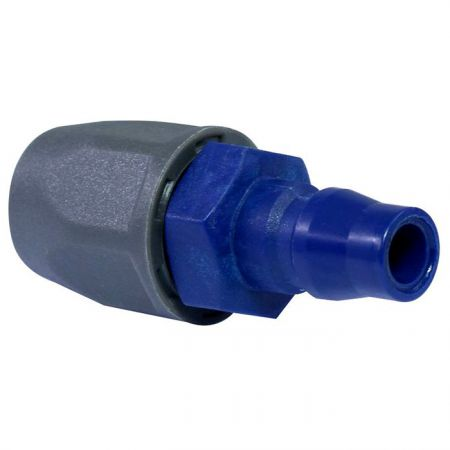 One Touch Quick Couplings PU Plug (Nylon66 + GF) - Also known as one-hand operation quick coupling, one-hand operation quick coupler, one-hand quick release coupling.