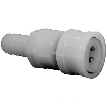 One-Way Shutoff Quick Couplings Hose Socket (Nylon66) - One-Way Shutoff Quick Couplings Hose Socket (Nylon66)