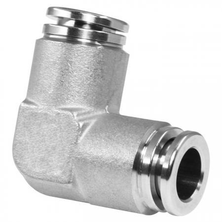 Unión de racores neumáticos push-in de acero inoxidable - Uniones de racores neumáticos push-in.