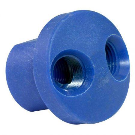 Schnellkupplungen, Verteiler, kreisförmig, 2 Auslässe (Nylon + Fiberglas) - Schnellkupplungen Verteiler Rund 2-Auslass.