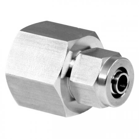 Stainless Steel High Temperature Resistance Rapid Pneumatic Fittings Female Connector - Stainless Steel Rapid Pneumatic Female Fitting for plastic tube.