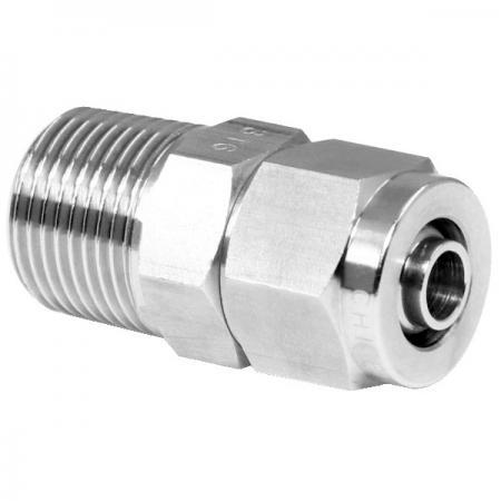 Edelstahl-Hochtemperaturbeständigkeit Schneller pneumatischer Anschlussstecker - Schnelle pneumatische Verschraubung aus Edelstahl für Kunststoffrohre.