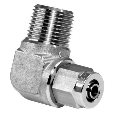 Edelstahl-Hochtemperaturbeständigkeit Schneller pneumatischer Fitting-Außenwinkel - Schnelle pneumatische Verschraubung aus Edelstahl für Kunststoffrohre.