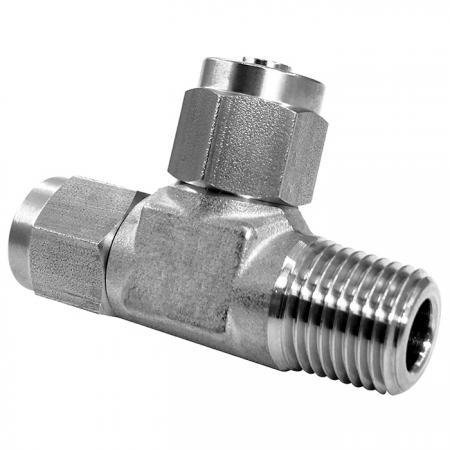 Edelstahl-Hochtemperaturbeständigkeit Schnelle pneumatische Fittings-Außengewinde-T-Stück - Schnelle pneumatische Verschraubung aus Edelstahl für Kunststoffrohre.