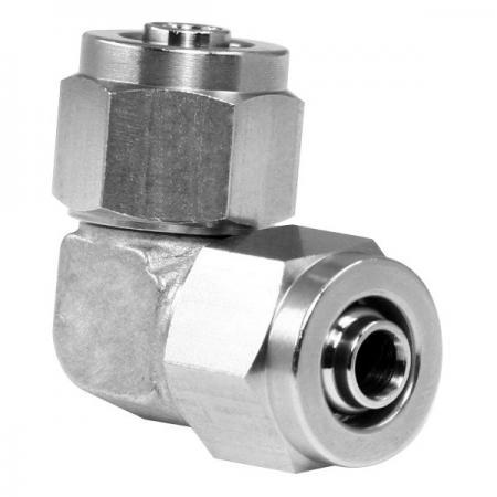 Edelstahl-Hochtemperaturbeständigkeit Schnelle pneumatische Fitting-Verbindungswinkel - Schnelle pneumatische Verschraubung aus Edelstahl für Kunststoffrohre.