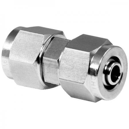 Stainless Steel High Temperature Resistance Rapid Pneumatic Fittings Union - Stainless Steel Rapid Pneumatic Fitting for plastic tube.
