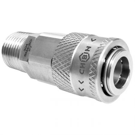 Safety One Touch Quick Couplings Male Socket - Also known as hand operation quick coupling.