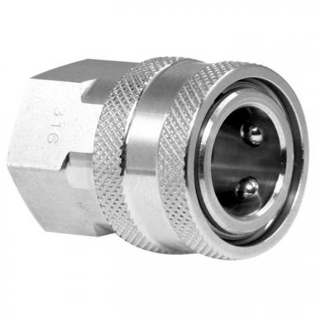 Straight Through Quick Couplings Female Socket - Straight through quick couplings female socket is suitable for high pressure application.