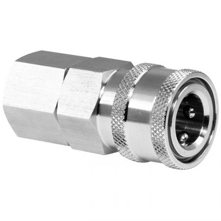 Traditional One-Way Shutoff Quick Couplings Female Socket (SUS) - Traditional One-Way Shutoff Quick Couplings Female Socket (SUS).