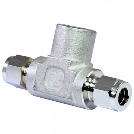 Raccordi per tubi in acciaio inossidabile 316 Raccordo a T femmina - Raccordi per tubi a doppia ghiera in acciaio inossidabile 316 a T femmina.