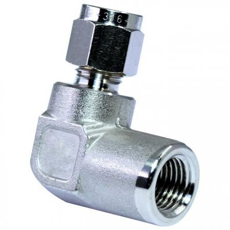316 Stainless Steel Tube Fittings Female Elbow - 316 stainless steel double ferrules tube fittings female elbow.