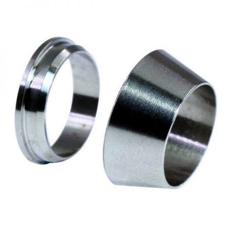 Férulas de racores de tubo - Virola doble de acero inoxidable.