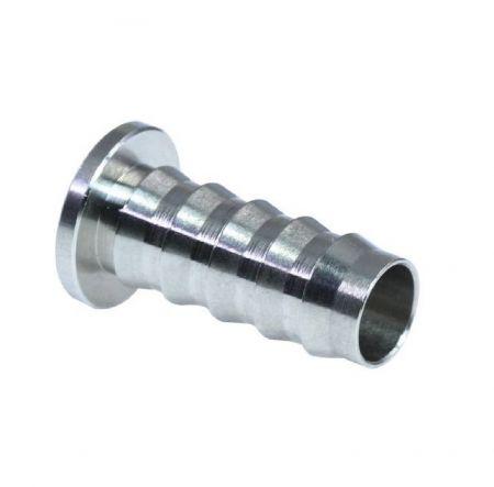 Rohrverschraubungen einsetzen - Verstärkung des Kunststoffschlaucheinsatzes.