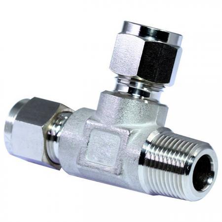 Raccords de tubes en acier inoxydable 316 Té mâle - Raccords de tubes à double virole en acier inoxydable 316 té mâle.