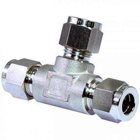 Raccords de tubes en acier inoxydable 316 Té union - Raccords de tubes en acier inoxydable 316 à double bague en té.