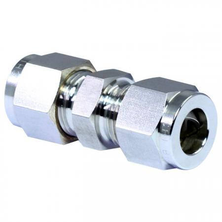 Unione di raccordi per tubi in acciaio inossidabile 316 - Raccordi per tubi a doppia ghiera in acciaio inossidabile 316.