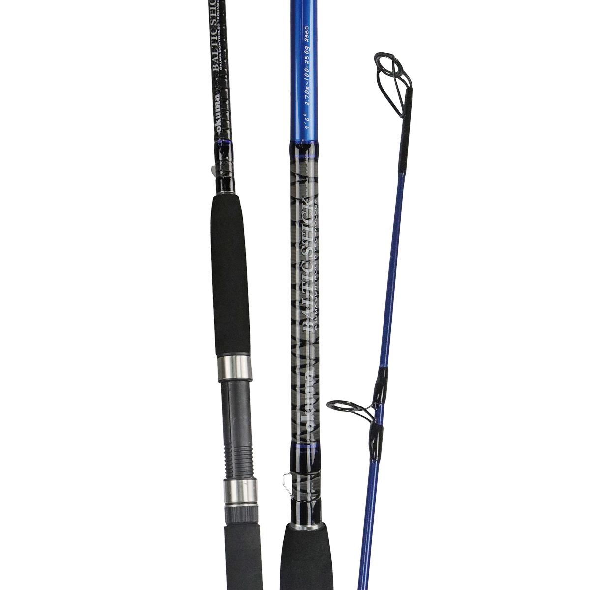 Baltic Stick Rod - Okuma Baltic Stick Rod-For freshwater fishing- High modulus ultra-responsive carbon blank construction- Zirconium guides inserts reduce friction-Quality Okuma graphite reel seat