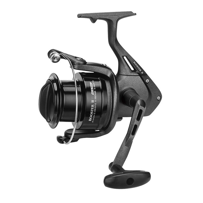 Booster II Spinning Reel - Okuma Booster II Spinning Reel -Corrosion resistant graphite body and rotor-Multi-stop anti-reverse system-Aluminum anodized spool